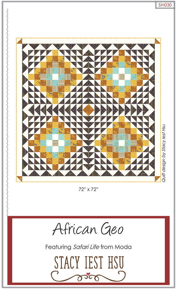 African Geo Quilt Pattern by Stacy Iest Hsu