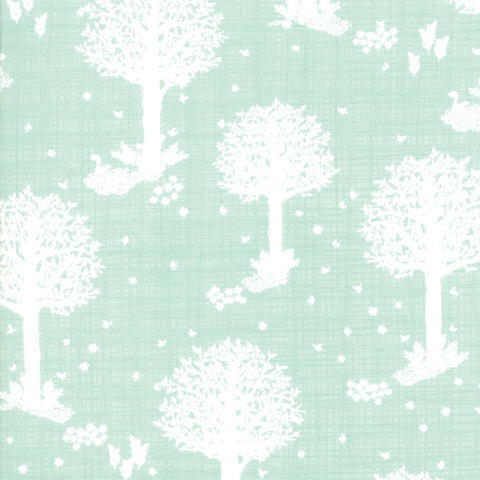 Wonder Aqua Enchanted Forest Yardage by Kate & Birdie Paper Co. for Moda Fabrics