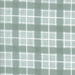 Juniper Brushed Flannel Frost Plaid Yardage by Kate & Birdie for Moda Fabrics