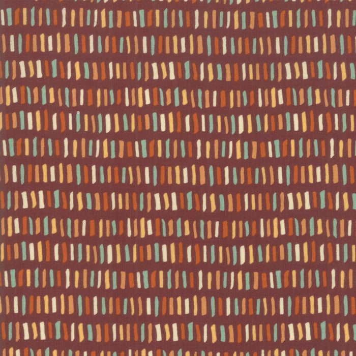 Last Bloom Merlot Dashes Yardage by Sandy Gervais for Moda Fabrics