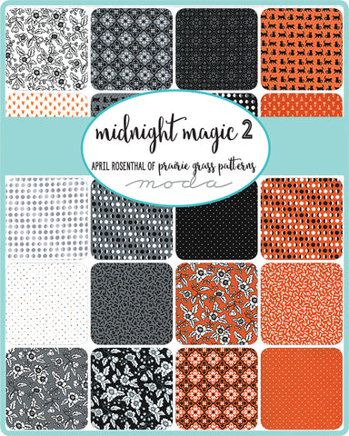 PREORDER Midnight Magic 2 Fat Quarter Bundle by April Rosenthal for Moda Fabrics