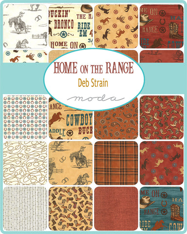 PREORDER Home on the Range Charm Pack by Deb Strain for Moda Fabrics