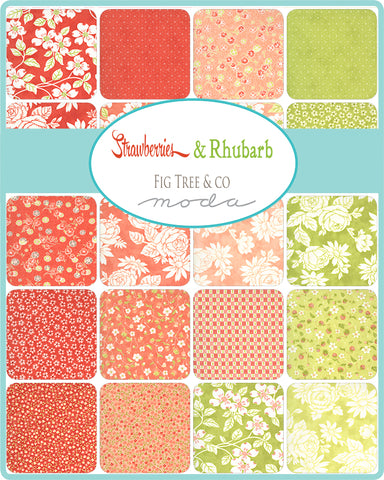 PREORDER Strawberries & Rhubarb Charm Pack by Fig Tree & Co. for Moda Fabrics