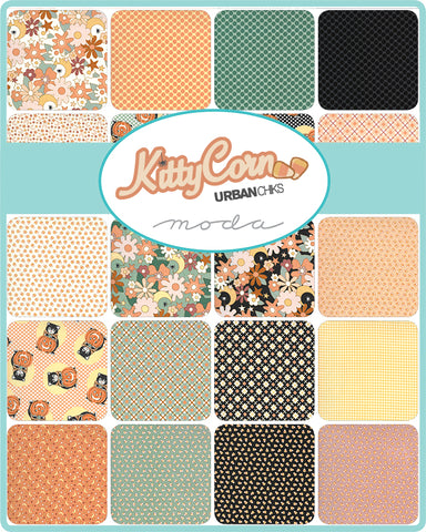 Kitty Corn Charm Pack by Urban Chiks for Moda Fabrics
