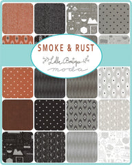 PREORDER Smoke & Rust Charm Pack by Lella Boutique for Moda Fabrics