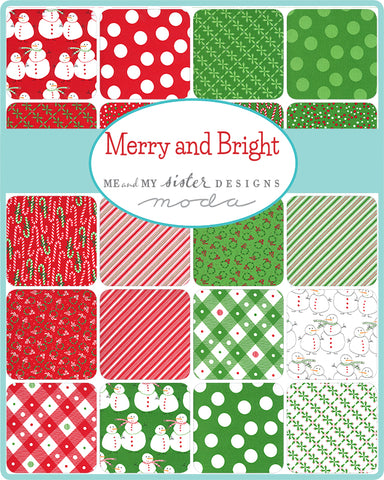 Merry and Bright Charm Pack by Me and My Sister for Moda Fabrics