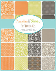 Pumpkins & Blossoms Mini Charm Pack by Fig Tree & Co. for Moda Fabrics