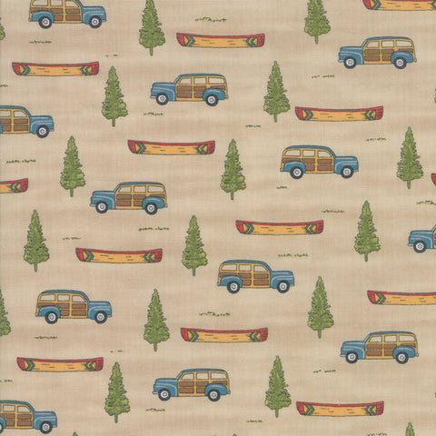 Explore Khaki Tan Adventure Awaits Yardage by Deb Strain for Moda Fabrics