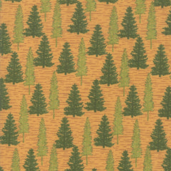 Explore Gold Woodland Trees Yardage by Deb Strain for Moda Fabrics