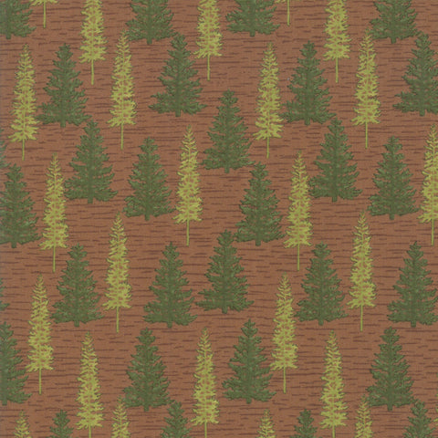 Explore Adirondack Red Woodland Trees Yardage by Deb Strain for Moda Fabrics