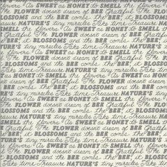 Bee Grateful Dove Grey Sweet Words Yardage by Deb Strain for Moda Fabrics