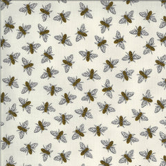 Bee Grateful Dove Grey Buzz Yardage by Deb Strain for Moda Fabrics