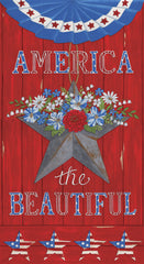 America The Beautiful Barnwood Red America Panel by Deb Strain for Moda Fabrics
