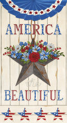 America The Beautiful White America Panel by Deb Strain for Moda Fabrics