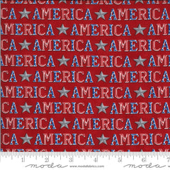 America The Beautiful Barnwood Red American Type Yardage by Deb Strain for Moda Fabrics