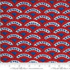 America The Beautiful Barnwood Red Bunting Yardage by Deb Strain for Moda Fabrics