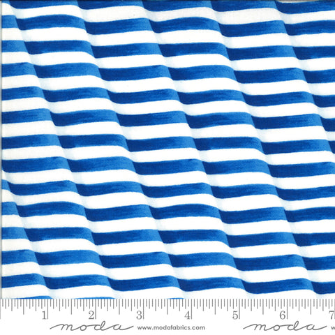 America The Beautiful Lake Blue Waving Stripes Yardage by Deb Strain for Moda Fabrics