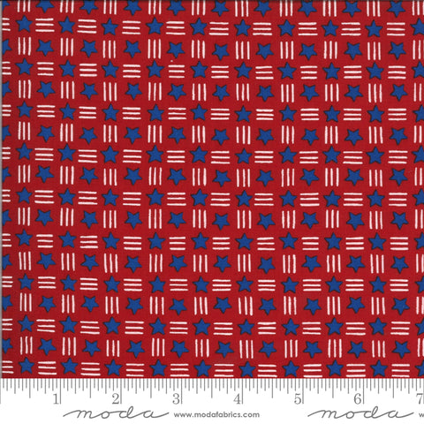 America The Beautiful Barnwood Red Stars Stripes Yardage by Deb Strain for Moda Fabrics
