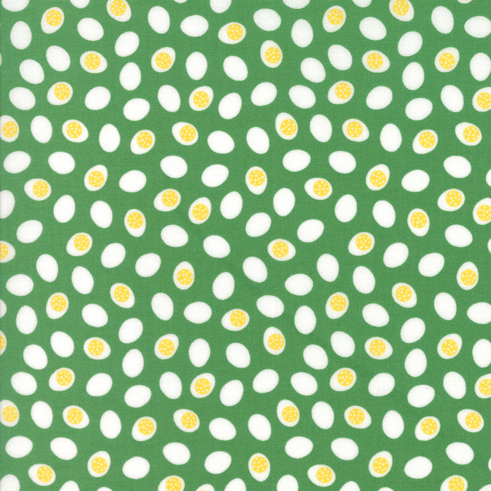 Farm Fun Grass Egg Toss Yardage by Stacy Iest Hsu for Moda