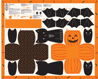 Ghouls and Goodies Multi Halloween Cut Sew Panel by Stacy Iest Hsu for Moda Fabrics