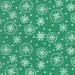 Deck The Halls Green Let It Snow Yardage by Stacy Iest Hsu for Moda Fabrics
