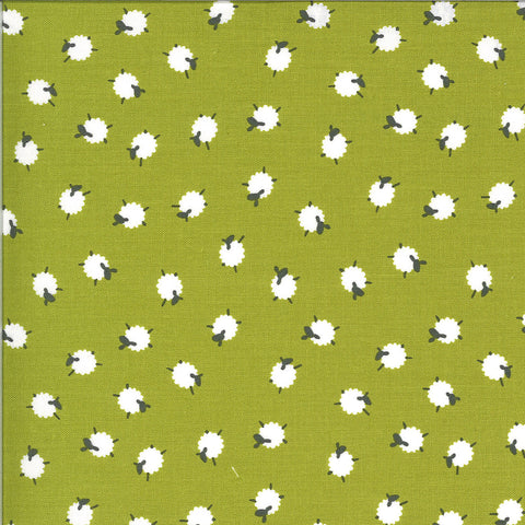 On The Farm Green Bah Bah Baby Sheep Yardage by Stacy Iest Hsu for Moda Fabrics