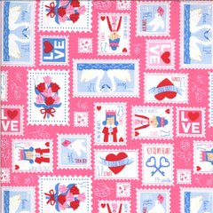 Be Mine Sweetheart Love Stamp Yardage by Stacy Iest Hsu for Moda Fabrics