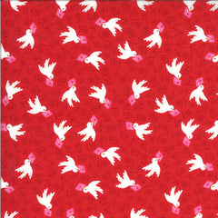 Be Mine Kisses Airmail Yardage by Stacy Iest Hsu for Moda Fabrics