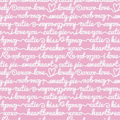 XOXO Pink Words of Affection yardage by Camelot Fabrics