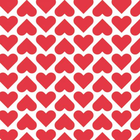 XOXO Red Wild Hearts yardage by Camelot Fabrics
