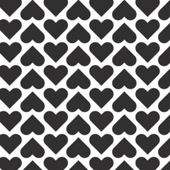 XOXO Black Wild Hearts yardage by Camelot Fabrics