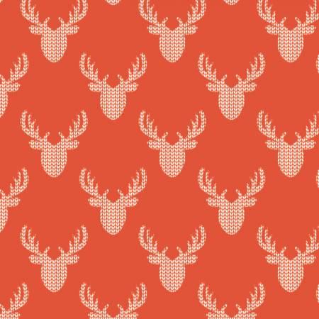 Reindeer Lodge Red Knit Look Deer yardage by Camelot Fabrics