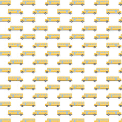 Teachers Rule White School Bus yardage by Camelot Fabrics
