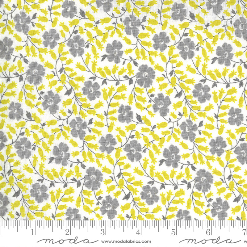Flowers For Freya Cloud Foggy Flower Bed Yardage by Lindzee McCray for Moda Fabrics