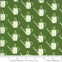 Homestead Leaf Watering Can Yardage by April Rosenthal for Moda Fabrics