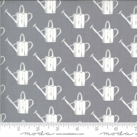 Homestead Fog Watering Can Yardage by April Rosenthal for Moda Fabrics
