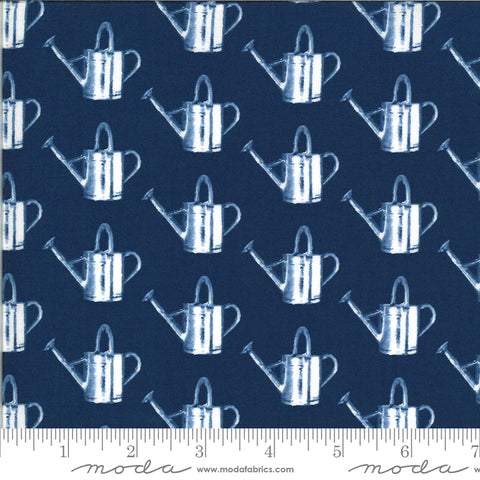 Homestead Midnight Watering Can Yardage by April Rosenthal for Moda Fabrics