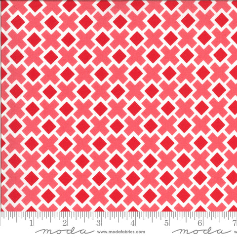 Homestead Strawberry Fancy Tile Yardage by April Rosenthal for Moda Fabrics