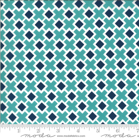 Homestead Sky Fancy Tile Yardage by April Rosenthal for Moda Fabrics