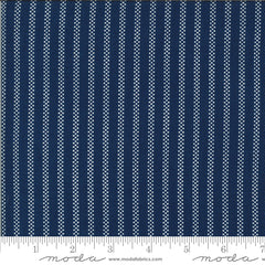 Homestead Midnight Pin Stripe Yardage by April Rosenthal for Moda Fabrics