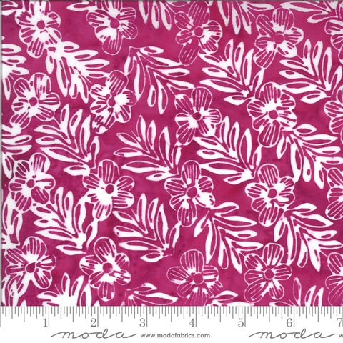 Confection Batiks Raspberry Mayleen Yardage by Kate Spain for Moda Fabrics