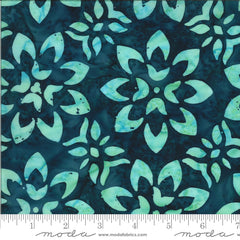 Confection Batiks Blue Raspberry Floret Yardage by Kate Spain for Moda Fabrics