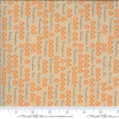 Squirrelly Girl Latte Pumpkin Parade Yardage by Bunny Hill for Moda Fabrics