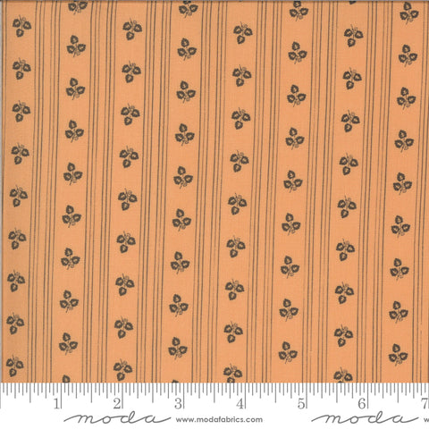 Squirrelly Girl Stripe Apricot It's Fall Yall Yardage by Bunny Hill for Moda Fabrics