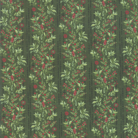 Naughty Or Nice Winter Spruce Garland Yardage by Basic Grey for Moda Fabrics