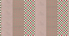 Naughty Or Nice Multi Checking It Twice Yardage by Basic Grey for Moda Fabrics
