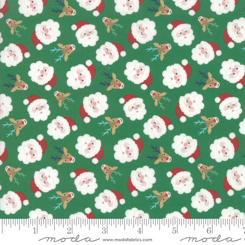 Jolly Season Spruce Santas yardage by Abi Hall for Moda Fabrics