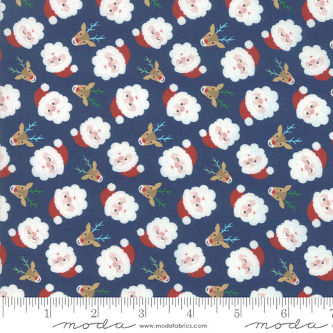 Jolly Season Midnight Santas yardage by Abi Hall for Moda Fabrics