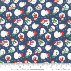 Jolly Season Midnight Snowman yardage by Abi Hall for Moda Fabrics