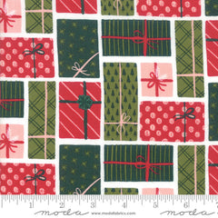 To Be Jolly Snowflake Christmas Presents Yardage by One Canoe Two for Moda Fabrics